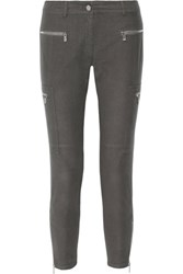 Michael Kors Collection Stretch Cotton Blend Skinny Pants Anthracite