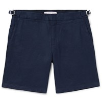 Orlebar Brown Norwich Slim Fit Linen Shorts Blue