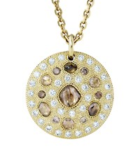 De Beers Yellow Gold Talisman Medal Necklace Multi