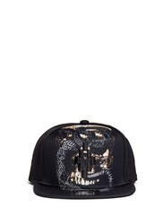 Marcelo Burlon 'Bayo' Serpent Skull Twill Cap Black Multi Colour