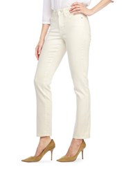 Nydj Petite Cotton Blend Slim Fit Jeans Cream