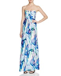 Parker Black Strapless Printed Gown Stained Glass