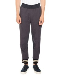 Dries Van Noten Holley Seamed Jogger Pants Navy