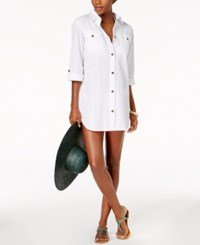 Dotti Cabana Life Shirtdress Cover Up Women's Swimsuit White