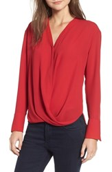 Chelsea 28 Chelsea28 Drape Front Top Red Chili