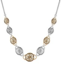 Lucky Brand Two Tone Disc Collar Necklace Two Tone