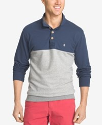 Izod Men's Big And Tall Jefferson Colorblocked Henley Anchor
