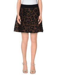 Mariuccia Skirts Mini Skirts Women Brown