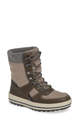Cougar Vergio Waterproof Winter Boot Taupe Oatmeal Fabric