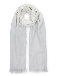 Jacques Vert Lurex Ombre Scarf Grey