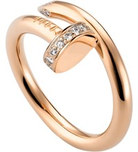 Cartier Juste Un Clou 18Ct Pink Gold And Diamond Ring