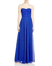 Js Collections Strapless Mesh Skirt Gown 100 Bloomingdale's Exclusive Cobalt
