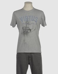 Virtus Palestre Topwear Short Sleeve T Shirts Men Light Grey