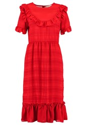 Lost Ink Hester Summer Dress Bright Red