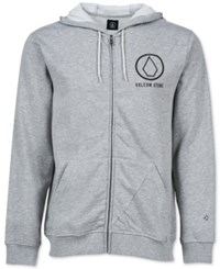 Volcom Men's Stray Dog Full Zip Graphic Print Logo Hoodie