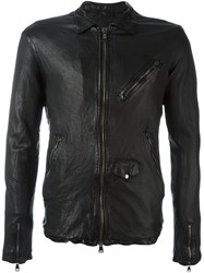 Giorgio Brato Central Zip Jacket Black