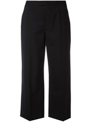Red Valentino Flared Cropped Trousers Black