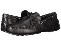 Coach Crosby Lace Black Leather Men's Slip On Shoes