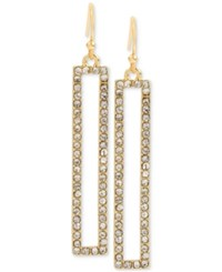 Inc International Concepts M. Haskell For Gold Tone Rectangular Pave Drop Earrings Only At Macy's