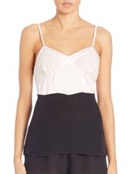 Araks William Silk Camisole Black White