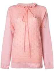 J.W.Anderson Jw Anderson Trompe L'oeil Sweater Pink And Purple