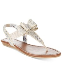 Material Girl Shayleen Flat Thong Sandals Only At Macy's Women's Shoes Silver