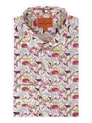 Simon Carter Men's Liberty Queue For The Zoo Print Multi Coloured Multi Coloured