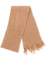 Marni Oversized Knitted Scarf Neutrals
