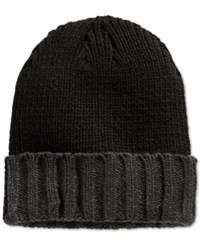 Alfani Red Cuffed Beanie Black