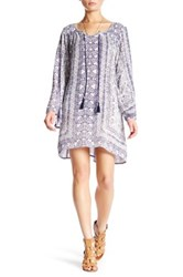 Angie Long Sleeve Front Tie Dress Multi