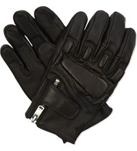 Sandro Race Quilted Leather Gloves Black