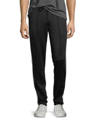 Vince Track Trouser Pants Blk Stormy White