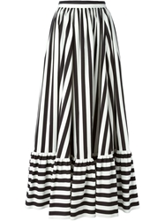 Dolce And Gabbana Long Striped Skirt