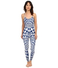 Mara Hoffman Peacefield Bodysuit Navy White Women's Jumpsuit And Rompers One Piece Blue