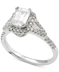 Marchesa Certified Diamond Engagement Ring 1 Ct. T.W. In 18K White Gold Only At Macy's