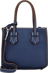 Moreau Bregancon Top Zip Mini Tote Blue