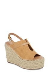 Linea Paolo 'S Everyly Espadrille Wedge Sandal Sand Nubuck Leather