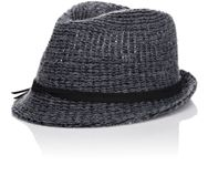 Hat Attack Knit Short Brim Fedora Grey