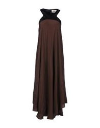 Nina Long Dresses Cocoa
