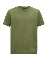 Joseph Mercerised Cotton Jersey T Shirt Khaki