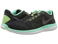 Nike Flex 2016 Rn Black Green Glow White Metallic Dark Grey Women's Running Shoes
