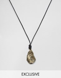 Seven London Stone Cord Necklace In Black Exclusive To Asos Black