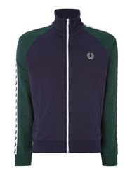Fred Perry Men's Taped Track Jacket Navy