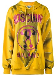 Moschino Trompe L'a Il Logo Hoodie Yellow And Orange
