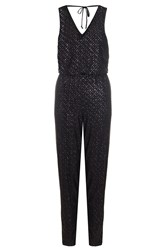 Quiz Black Glitter Diamond Jumpsuit Black