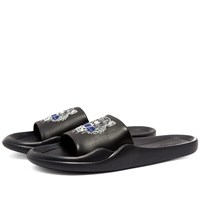 Kenzo Tiger Head Pool Slide Black
