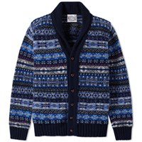 Jamiesons Of Shetland Jamieson's Fair Isle Shawl Collar Cardigan Multi