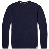 Norse Projects Sigfred Lambswool Knit Blue