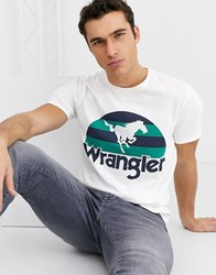 Wrangler Printed Graphic Tee In White