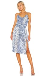Elliatt Collection Dress In Blue. Blue And Silver